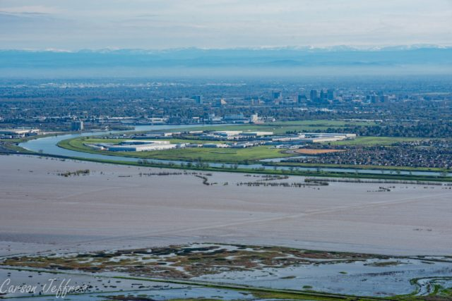 Bypass flooding, 2016 - photo courtesy of Carson Jeffres